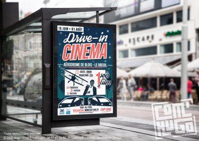 Affiche Drive-in cinéma - Blois le Breuil 2020