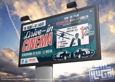Panneau grand format Drive-in cinéma - Blois le Breuil 2020