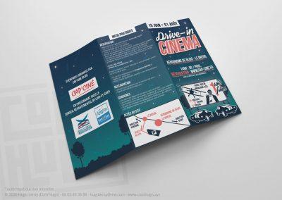 Trifold - Dépliant 3 volet - Drive-in Cinema de Blois le Breuil