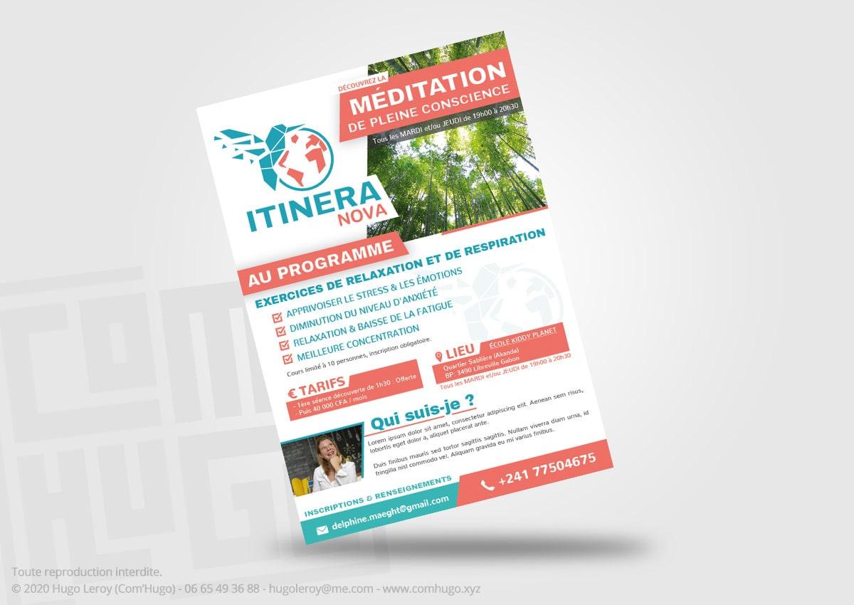 Création de flyer Itinera Nova