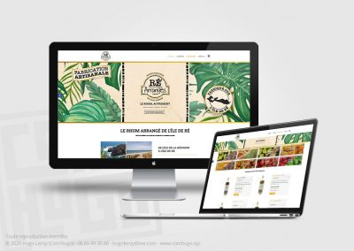 Création de site web de commande de produit pour Ré Arrangés