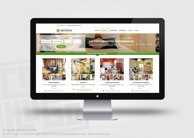 Création de site web de réservation pour TakeGîtesEasy